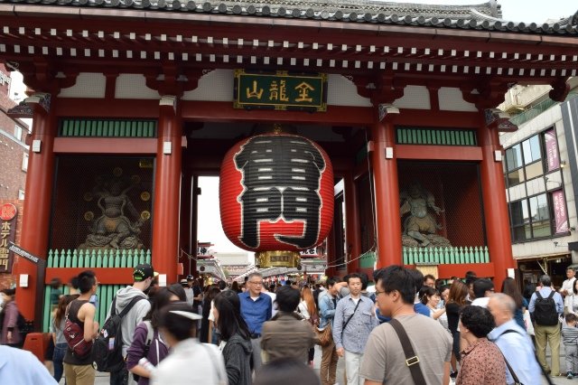 Many tourists and Japanese people visit the temple everyday