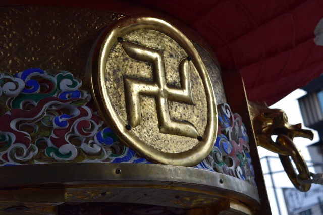 No, this is not a Nazi symbol - it's the symbol for Buddhist Temples