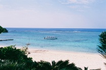 This beautiful beach scene is from Okinawa - the southern most area in Japan